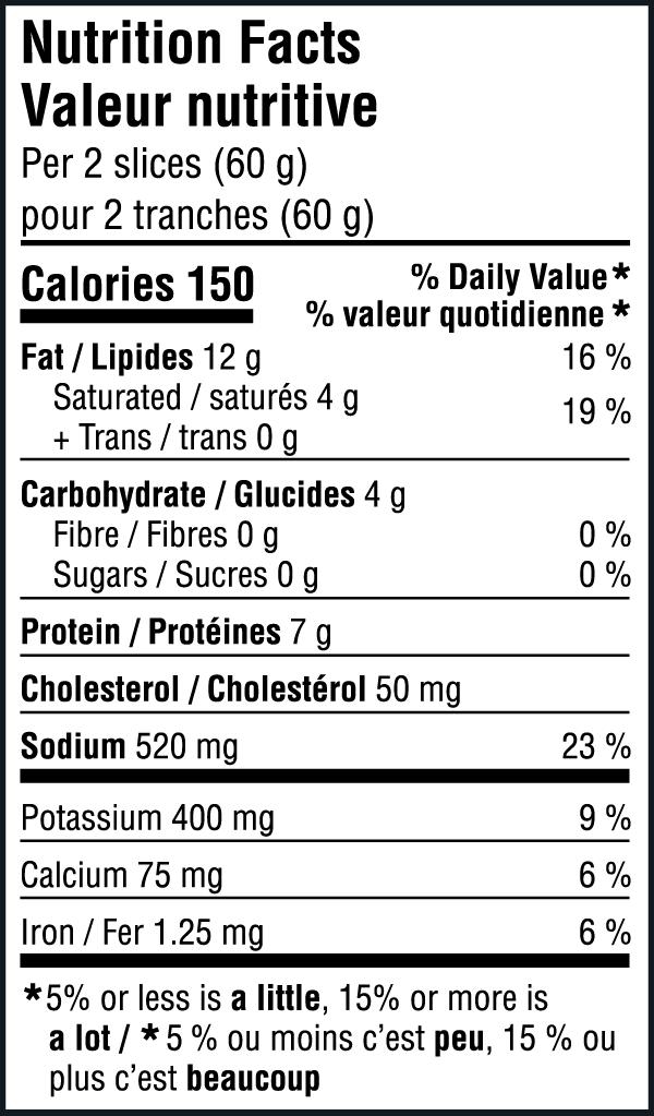Bologna Nutritional Image