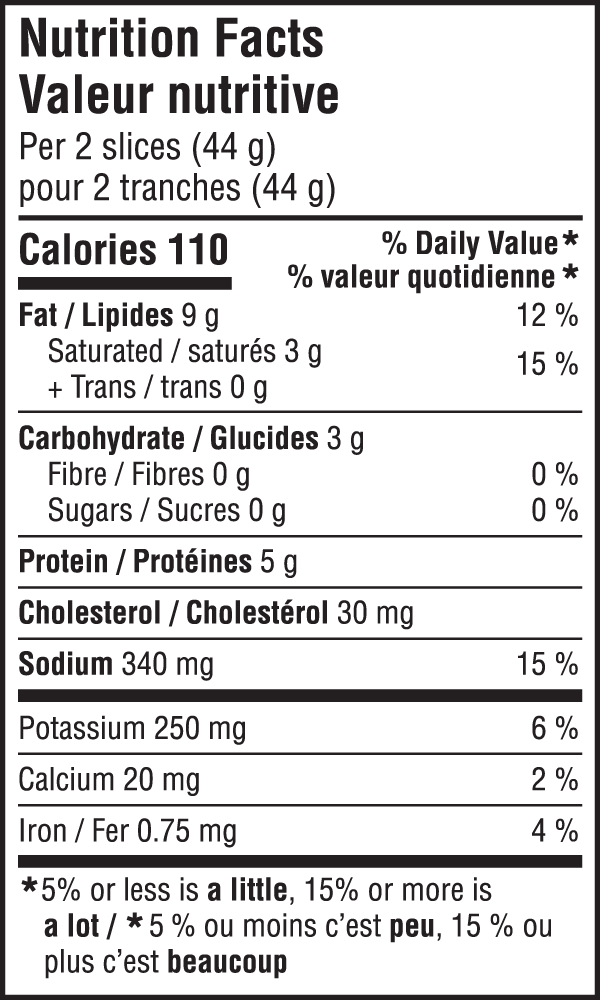 Salami Nutritional Image
